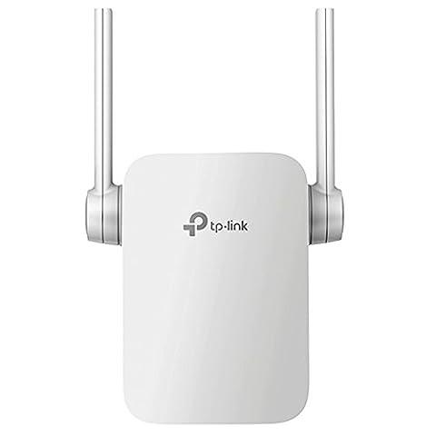 TP-Link AC1200 Dualband WLAN Repeater RE305 (867Mbit/s (5GHz) + 300Mbit/s (2,4GHz), App Steuerung, 1x Port, 2x flexible externe Antennen, WPS, kompatibel mit allen WLAN