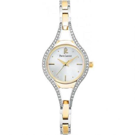 Pierre Lannier Women's Watch Chromed Steel Silver and Gold–087j721