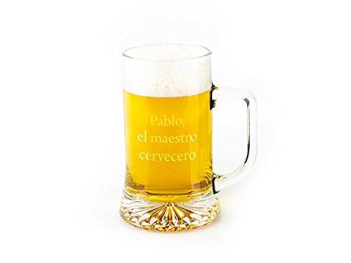 Regalo Original Jarra Cerveza Vidrio grabada 50cl
