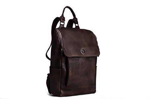 Handgefertigt Luxus Leder groß Reise Rucksack, Rucksack Tasche Ideal für einen Reisetasche, Universität, Schule, College 14