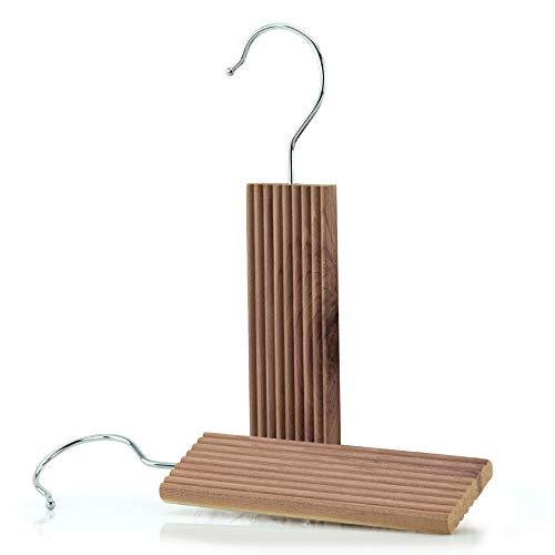 HANGERWORLD 6 Zedernholz Blöcke zum Aufhängen 13cm Langzeit natürlicher Mottenschutz gegen Motten