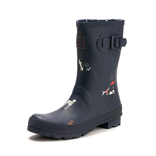 Joules Limited Molly Welly Mid Größe 36 EU Navy Dogs