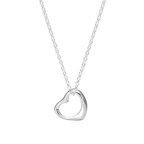 Sterling silver heart pendant amazon aloadofball