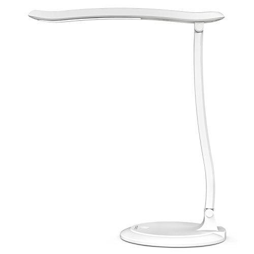 MoKo LED Touch Schreibtischlampe - 4.5W aufladbar dimmbar Batterie Lampe Nachttisch Kinder Tischlampe Nachtlampe Nachtlicht Schrankbeleuchtung mit Touchdimmer für Wohnzimmer, Kinderzimmer, Weiß