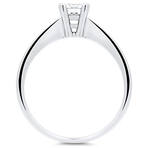 Hochwertiger Unique Verlobungsring aus 925 Silber mit Zirkonia VR0013 - 2