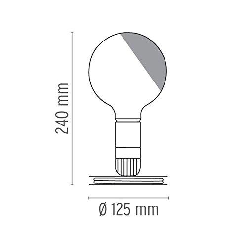Flos Lampadina LED 2W Lampada da Tavolo Nera