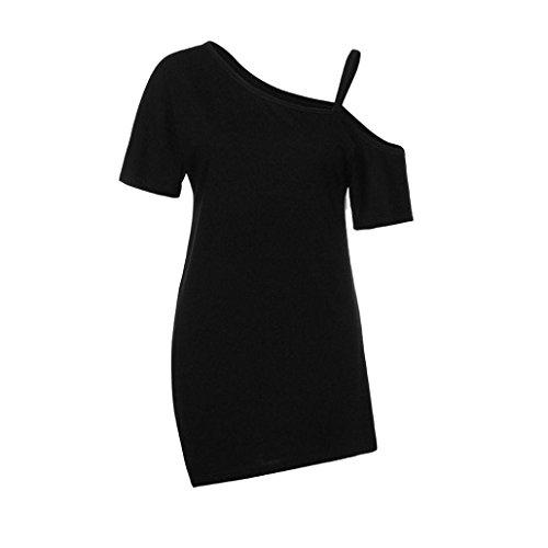 TIFIY Damen Bluse Elegant Kalte Schulter Lssiges Oberteil Verieren Langarmshirt V-Ausschnitt Vintage Tunika Hemd