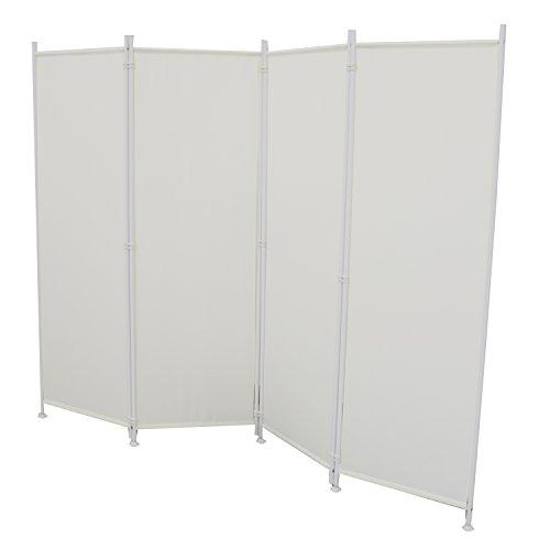 MCTECH® Stellwand Paravent Trennwand Raumteiler Klappbar Sichtschutz für Büros, Arbeitsstätten,Balkon (215x170cm, Beige)