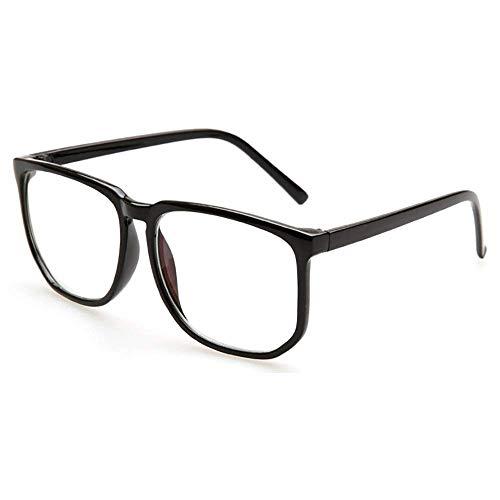 Grande occhiali con montatura grande anti blue light glasses lenti trasparenti anti fatica quadrate ...