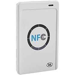 ACR122U - Lecteur RFID Intelligent sans Contact Distance de Lecture de 50 mm Compatible ISO 14443 Types A et B, Mifare, Felica et Les 4 Types de Tags NFC (ISO/IEC 18092).