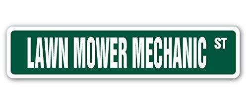 Aufkleber für Rasenmäher Mechaniker Straßenschild Reparatur Reparaturmann Traktor Reiten Mähen 20,3 cm (Reiten-traktor Für Kinder)