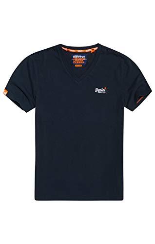 Superdry Herren ORANGE Label VNTGE EMB VEE Tee T-Shirt, Blau (Eclipse Navy 98T), X-Large