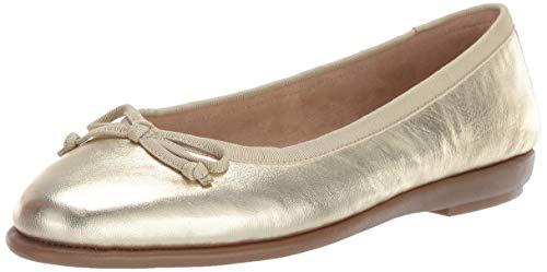 Aerosoles Women's Fast Bet Ballet Flat, Soft Gold Leather, 8 W US - Gold Ballet Flat