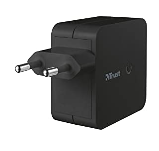 Trust Universal - Cargador de móvil doble (USB, 12W), negro (B00BEFYCD6) | Amazon price tracker / tracking, Amazon price history charts, Amazon price watches, Amazon price drop alerts