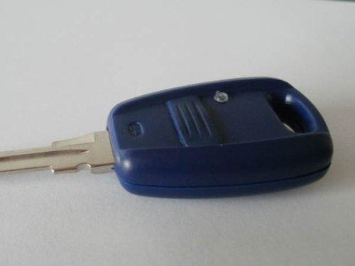 Fiat Seicento, Stilo, Punto 1 Knopf Schlüsselanhänger/Fernbedienung mit Klinge (Emblem-knöpfe)