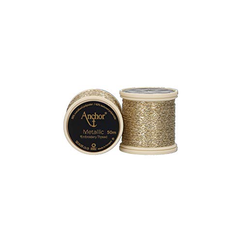 Anchor Metallic 4316000-00300 gold Effektstickgarn -