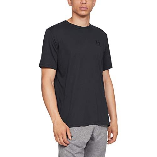 Komfortables Kurzarm-baumwolle (Under Armour Herren UA Sportstyle Kurzarm-Oberteil, komfortables T-Shirt für Männer mit Logo auf der linken Brust, Sportshirt mit loser Passform)