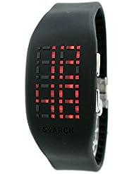 Philip Starck Philippe Starck - Reloj digital de cuarzo para hombre con correa de acero inoxidable, color plateado