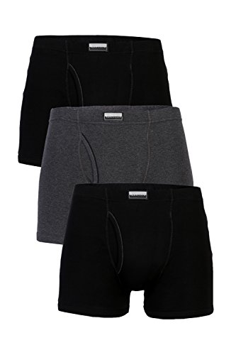 Van Heusen Men's Cotton Trunks (Pack of 3) (8907566752836_10031_Large_Anthramel, Pureblack, Pureblack)