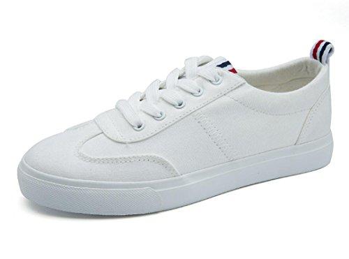 SHFANG Lady Shoes Scarpe da tè per il tempo libero Scarpe comode Movimento Scuola Shopping Daily Black White White