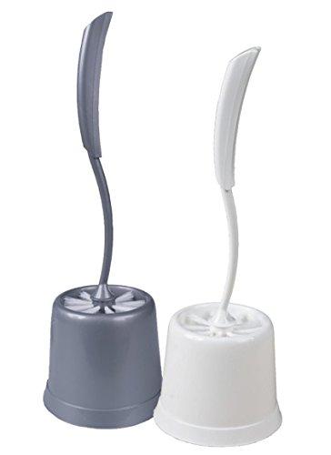 Centi WC-Set Bürste im Ständer in runder Form 12 x 37 cm - Anthrazit oder Weiß - Farbwahl nicht möglich!
