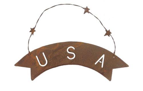 Outlet Usa (Craft Outlet USA Schild, 25,4 cm, rostfarben, 6 Stück)