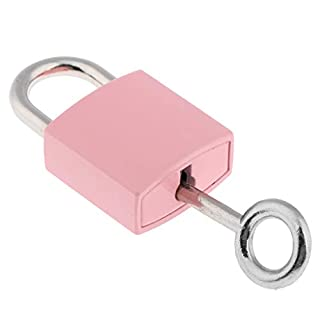 F Fityle Lovely Pink Lock Padlock for Locker Gym Bag School Travel Suitcase Drawer