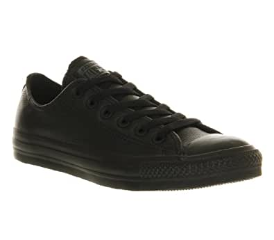 Converse All Star Leather Ox Trainers Black Black - 6