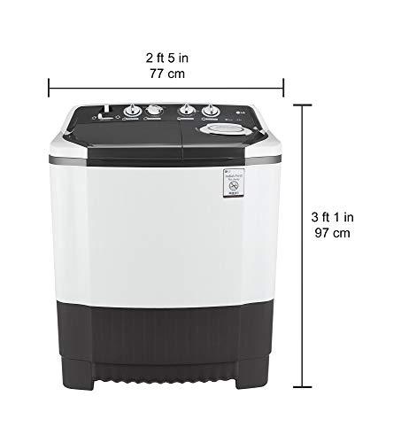 LG 6.5 kg Semi-Automatic Top Loading Washing Machine (P7550R3FA, Dark Grey)