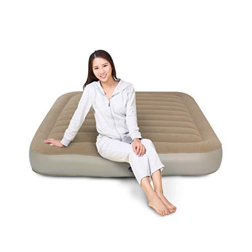 GBX Reise Camping Matratze-Individuelle Doppel Aufblasbare Bett Verdicken Outdoor Tragbare Matratze Luftbett Haushalt Erhöhen Luftmatratze mit Elektrische Luftpumpe,120x200x22cm
