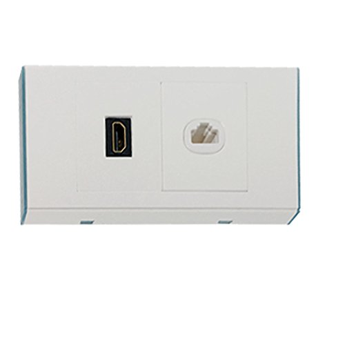 sourcingmap® Wall Plate HDMI RJ45 Network Cover Double Jacks Panel Test