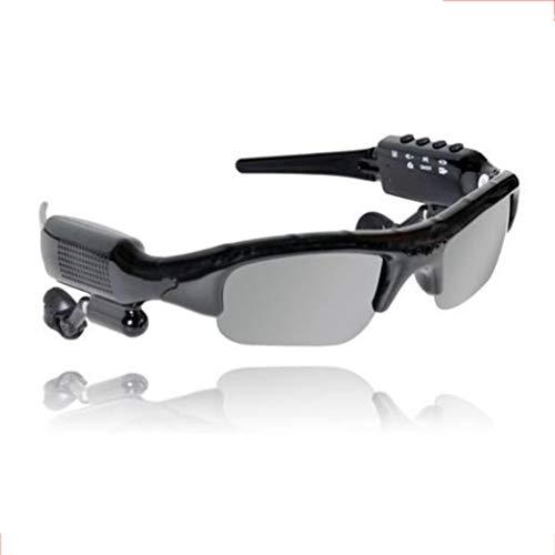 HKYMBM Polarisierte Sportsonnenbrille, intelligentes drahtloses Bluetooth-Brillen-Headset unterstützen Audio-Video, Kamera Bluetooth V4.0, kompatibel mit iOS, Android, Samsung usw