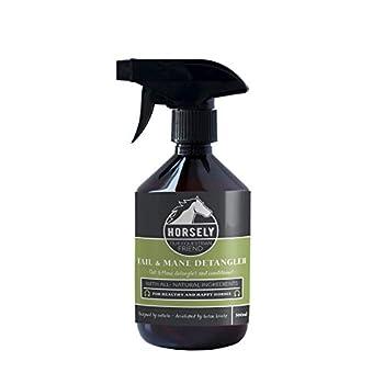 Demelant chevaux HORSELY   Equitation material pour queue de cheval   Spray biologique 500ml   Alternative à brosse criniere, au shampoing cheval
