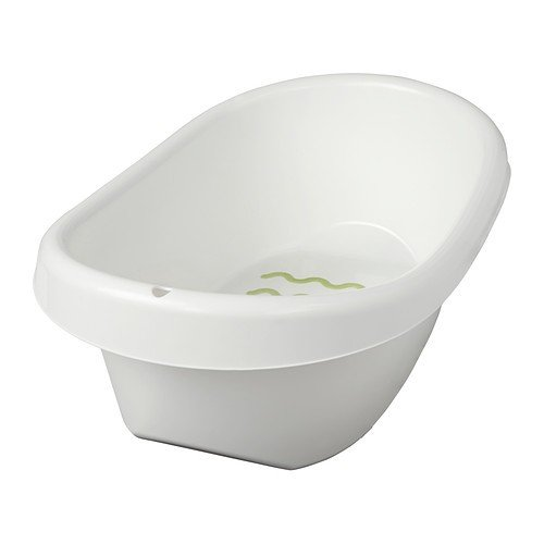 IKEA LÄTTSAM Bath Baby Bath Tub in White with Slide Protection Inside and Anti-Slip Protection