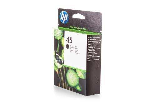 Original Tinte kompatibel zu HP DeskJet 930 C, 45, 45BK, 45BLACK, NO45, NO45BK, NO45BLACK 51645AE 51645AEABB 51645AEABD 51645AEABF, Premium Drucker-Patrone, Schwarz, 930 Seiten, 42 ml