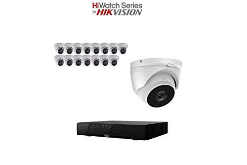 hiwatch von HIKVISION 1080P HD-tvi Sicherheit Kamera System mit 16CH HD DVR und 16x 2.1Megapixel 1920x 1080P CCTV Turret Kamera, Kit (16 Ch Dvr-kit)