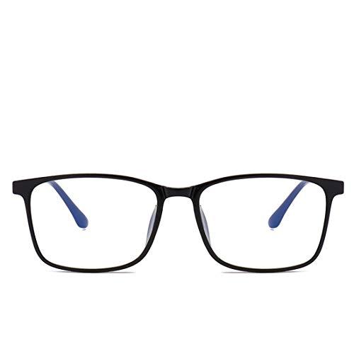 Shiduoli Anti-Blue-Light-Brille Anti-Strahlung-Brille für Männer, Nicht verschreibungspflichtig (Color : Matte Black)