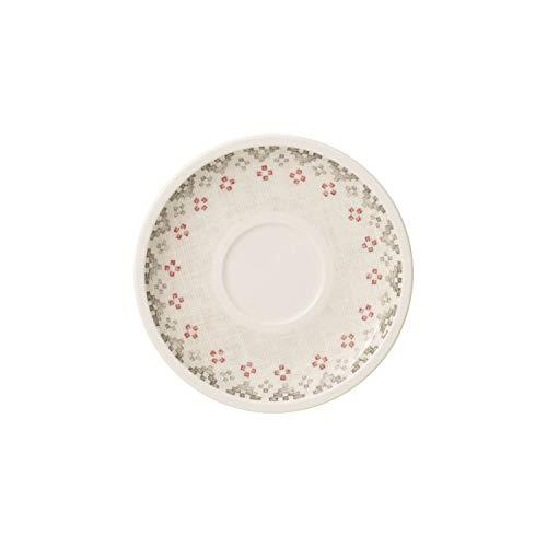 Villeroy & Boch Artesano Montagne Sous-tasse, Porcelaine Premium, Blanc/Gris