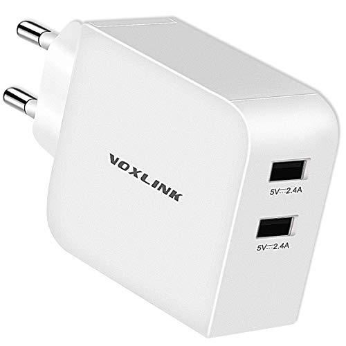 2 Ports USB Ladegerät 24W 4.8A USB Netzteile Handy Ladeadapter Reise Ladegerät für iPhone XS Max XR 8, iPad Tablet,Huawei Mate20 P20 Honor 10,Samsung Galaxy/Note,Xiaomi,LG,Nexus,Powerbank, MP3 usw