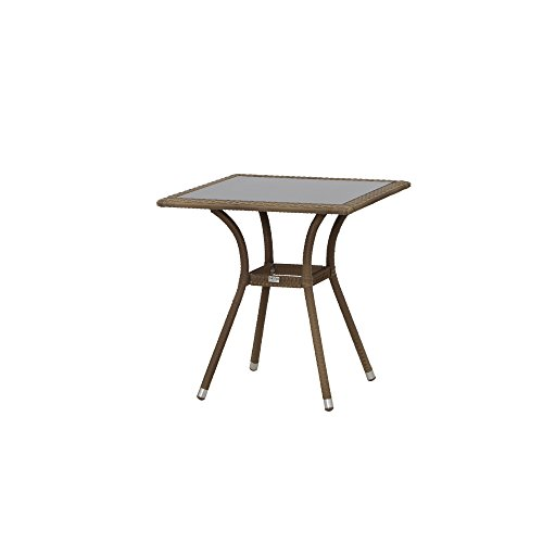Siena Garden Tisch Wien, 70x70x73cm, Gestell: Aluminium, pulverbeschichtet in sand, Tischp