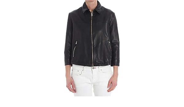 T407193194990 Fashion Noir DELAN Luxury Blouson Femme bf76ygY