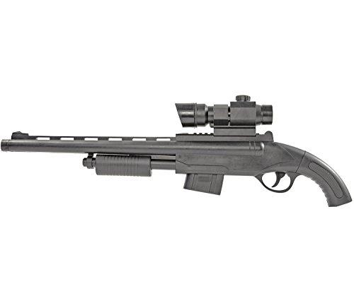 Nerd Clear Pump-Gun Soft-Air Schrot-Flinte Gangster Waffe Gewehr Spielzueg-Gewehr Pistole Deko 52266