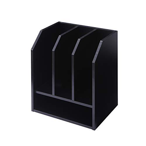RFIVER DO1002 Schreibtisch-Organizer aus schwarzem Holz mit Vertikaler horizontaler Aufbewahrung f¨¹r Zuhause, B¨¹ro, Schule