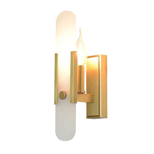 YangMi Wandlampe- Neue postmoderne Marmorsteinwandlampe, einfaches Designer-Modell Wohnzimmer Schlafzimmer Lampe (Farbe : Gold, größe : 8x30cm)
