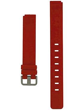 Bering Max Rene Armband Silikon Titan Schliesse 14 MM Rot - Serie : 12631