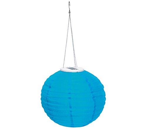 Dehner Solar Lampion Ø 28 cm, Nylon, blau