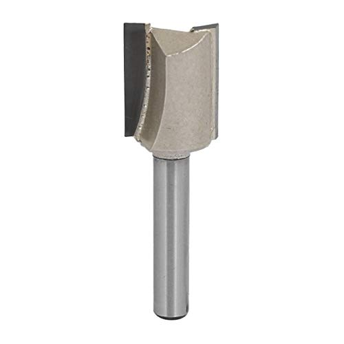 Double Flute Straight Router (ZCHXD 5/8-Inch Dia Carbide Double Flute Straight Router Bit with 25/32-Inch Length 1/4-Inch Shank)