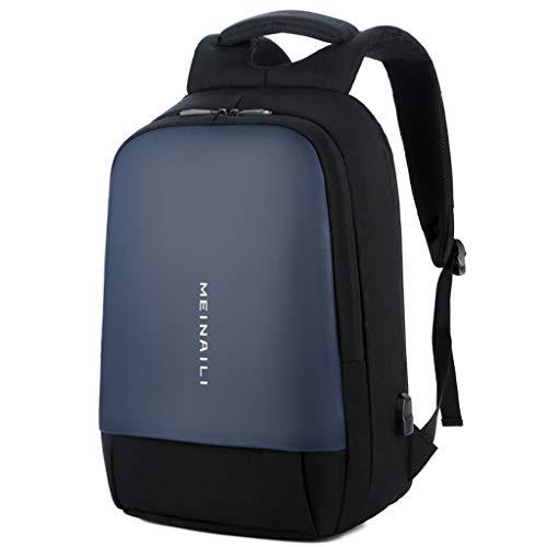 Ouneed- Hülle Laptop Backpack-Business Rucksack Herren Universität Schultasche Schulrucksack Damen Rucksäcke mit USB-Ladeanschluss, Trolley Rucksack für Lenovo Laptops 14-15,6 Zoll (Blau) (Samsung Galaxy S-ladeanschluss)