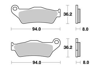 BREMSBELAGE VORNE AP RACING CCM CCM R.STICK 650 2001-2004 -
