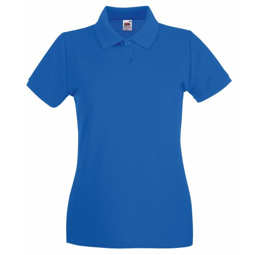 Fruit Of The Loom Damen Poloshirt, Kurzarm Royal Blue